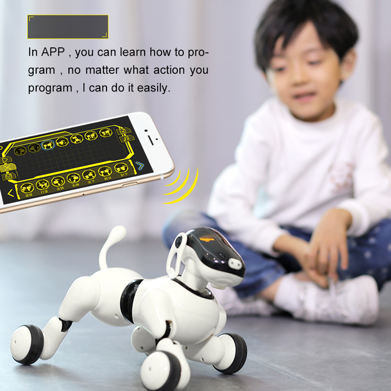 HeLicMax AI Dog Robot Toy 1803 APP Control Bluetooth Connection Smart Electronic AI Pet Dog Toy For Your Famliy and Friends-in RC Robots & Animals from Toys & Hobbies    1