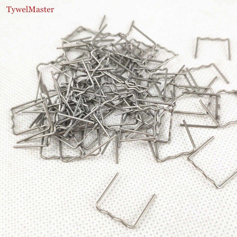 100 Pcs/Set Precut 0.8mm Semi Wave Flat Hot Staples For Plastic Stapler Repair Welder