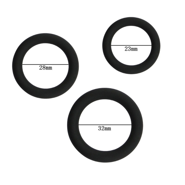 Penis Rings Silicone Male Enhancement Exercise Bands O -3644