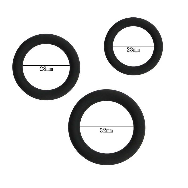 Penis Rings Silicone Male Enhancement Exercise Bands O Ring 3 Different Size Flexible Rings dropshipping