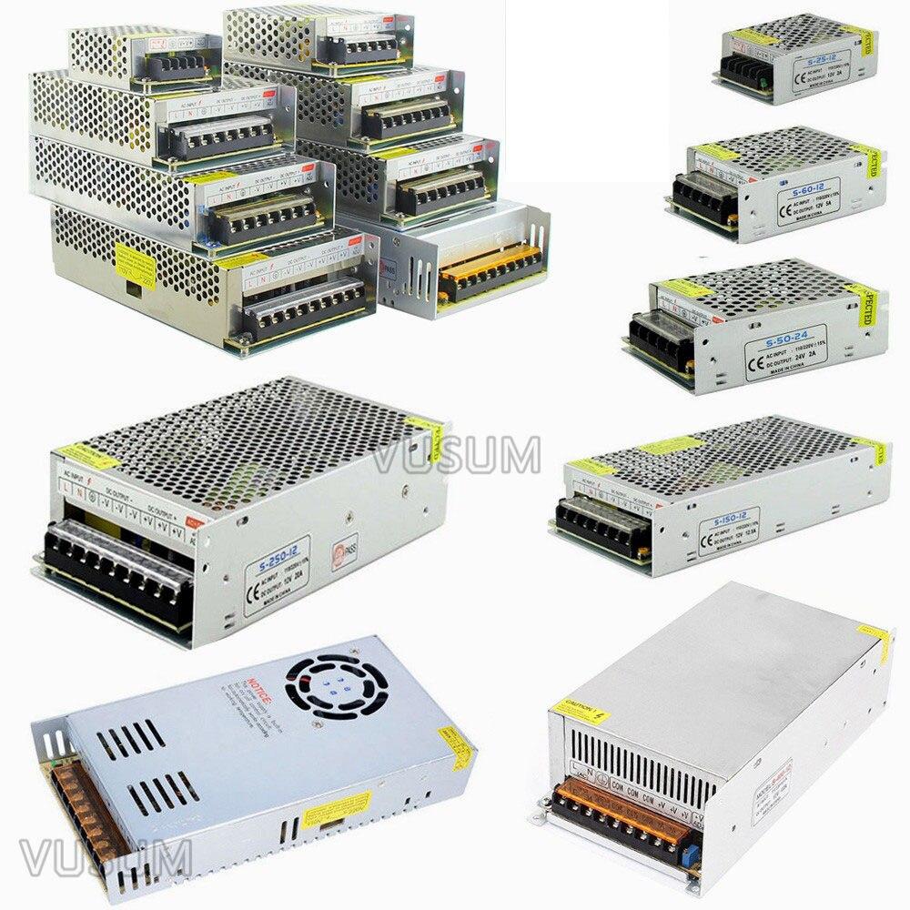 24 v LED Transformator Netzteil Schalter Adapter Für Led Streifen Lichter AC 110 v-220 v ZU DC 2A/5A/10A/15A/20A/30A/40A/60A Fahrer