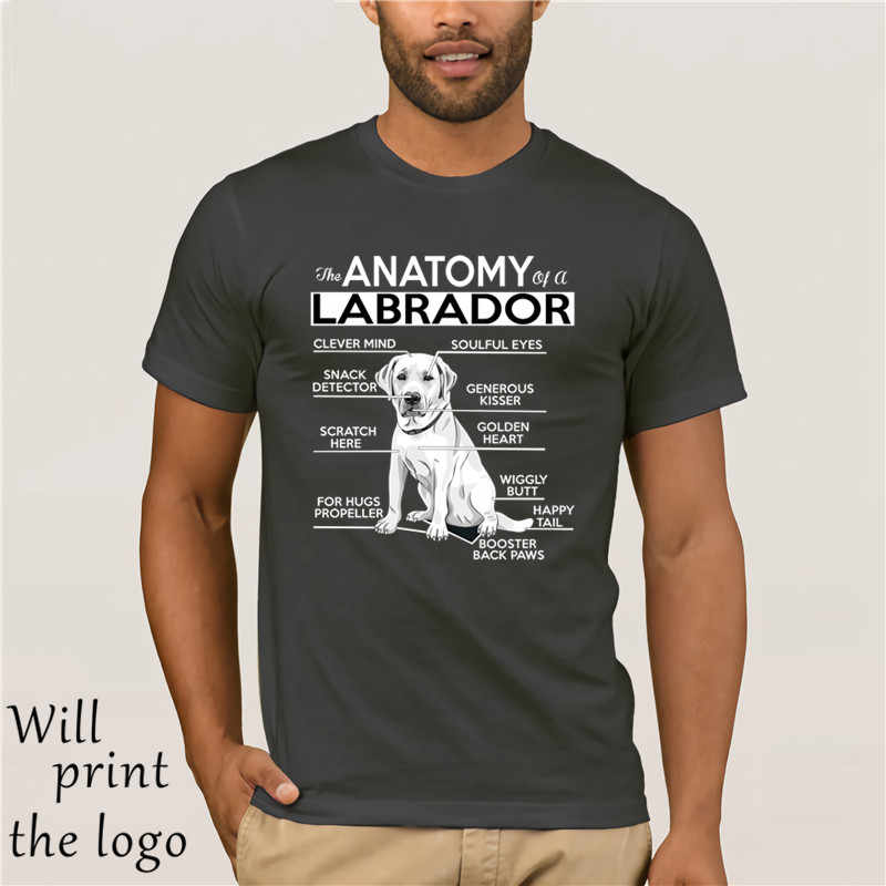 130beebf ... 2019 New Short Sleeve Casual Anatomy of A Labrador Tshirt Summer Casual  Man T Shirt Good ...