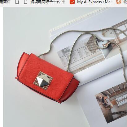 018 new chain skew satchel leather mini bag wing bag one shoulder bag