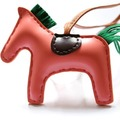 Leather Horse Bag Charm Genuine Leather Skin Cute Purse Charm Handmade Horse Handbag Tote Charm
