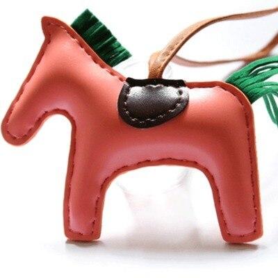 Leather Horse Bag Charm Genuine Leather Skin Cute Purse Charm Handmade Horse Handbag Tote Charm