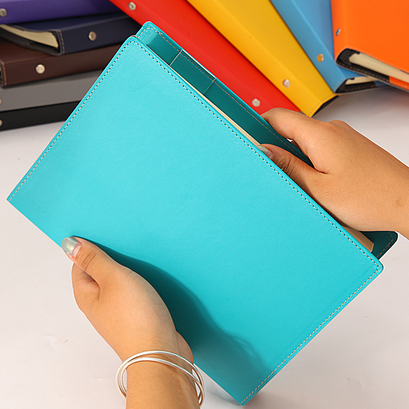 RuiZe creative stationery business office notebook A5 spiral notepad notebook leather cover refillable note book agenda купить недорого в Москве