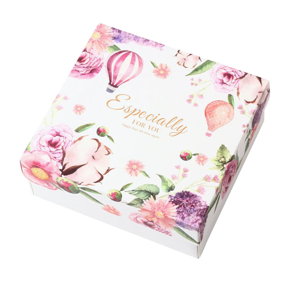 Flower Pattern Storage Box Wedding Gift Box Bridesmaid Wedding Candy Birthday Gift Case