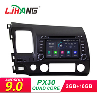 LJHANG Android 9,0 автомобильный dvd плеер для HONDA CIVIC 2006 2007 2008 2009 2010 2011 Мультимедиа автомобильный Радио стерео 2 Din gps Wifi ips
