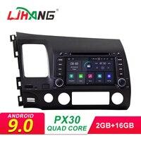 LJHANG Android 9.0 Car DVD Player For HONDA CIVIC 2006 2007 2008 2009 2010 2011 Multimedia Car Radio Stereo 2 Din GPS Wifi IPS