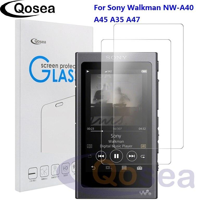 Qosea (2 PACK) pour Sony Walkman NW-A40 protecteur d'écran 9 H Ultra Clair Pour Sony NW-A45 A35 A47 MP3 De Protection verre trempé