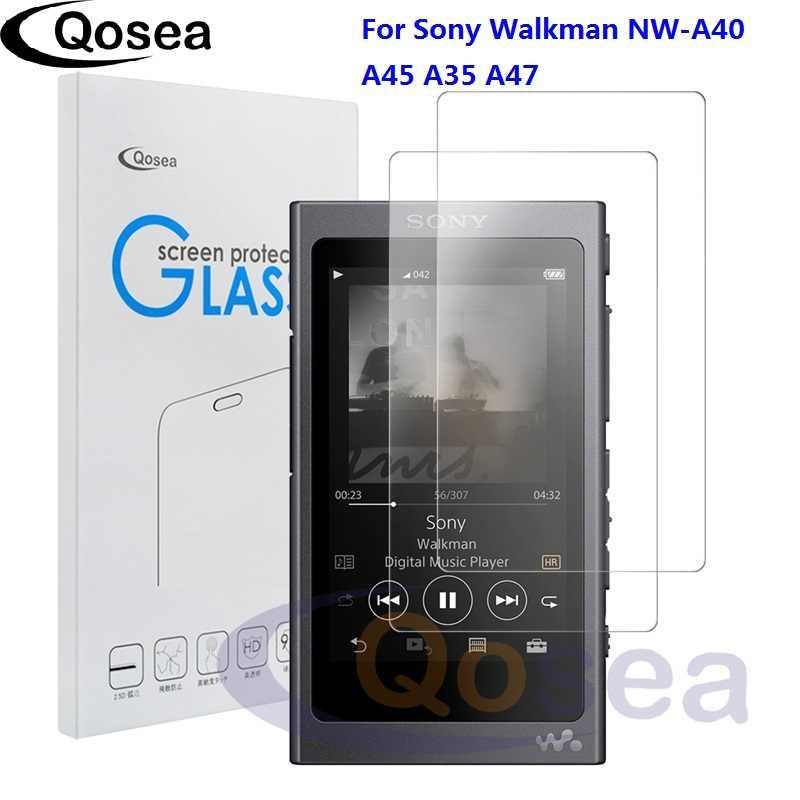 Qosea (2 حزمة) لسوني وكمان NW-A40 واقي للشاشة 9 H جدا واضحة لسوني NW-A45 A35 A47 MP3 واقية الزجاج المقسى