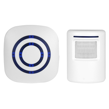 BearHoHo Door Bell Alarm Wireless PIR Motion Sensor 38 Tones 1 Plug in Receiver US EU and 1 Sensor up to 70 Meters wireless infrared motion sensor door security bell alarm chime eu us plug