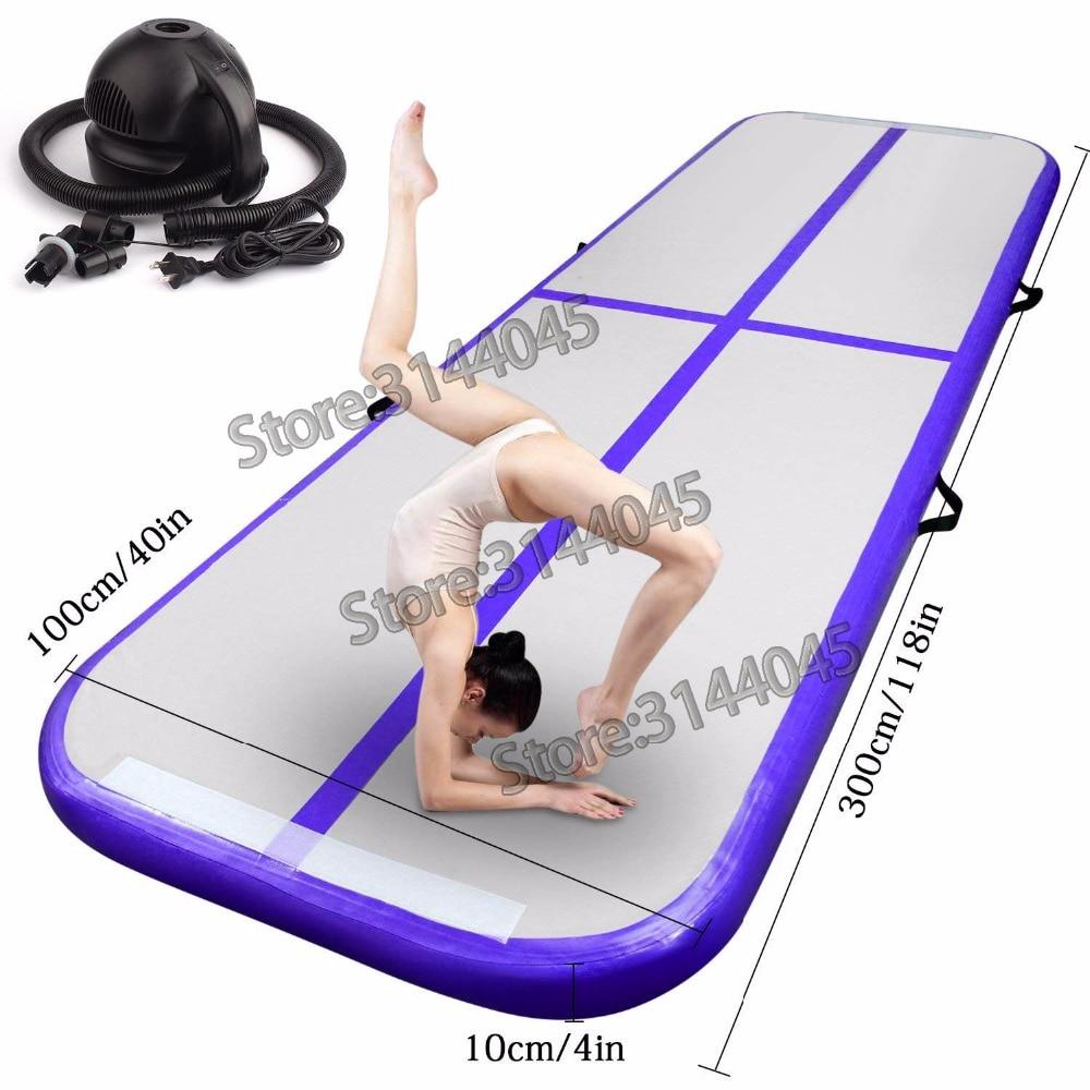 Voie d'air gonflable chaude culbutant gymnastique/Yoga/Taekwondo/eau flottant/Camping pliable formation tapis anti-dérapant 5 M * 1 M * 0.2 M