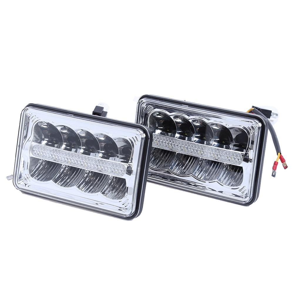 4х6 дюймов светодиодные DRL фары 45 Вт HID замена H4656/4651 высокая/низкая Луч с DRL Stripcar Центр accessaries автомобиля