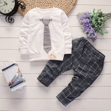 цена на Children Sets kids boys cotton Casual tops +Pants 2pcs clothes Baby boys clothing suits