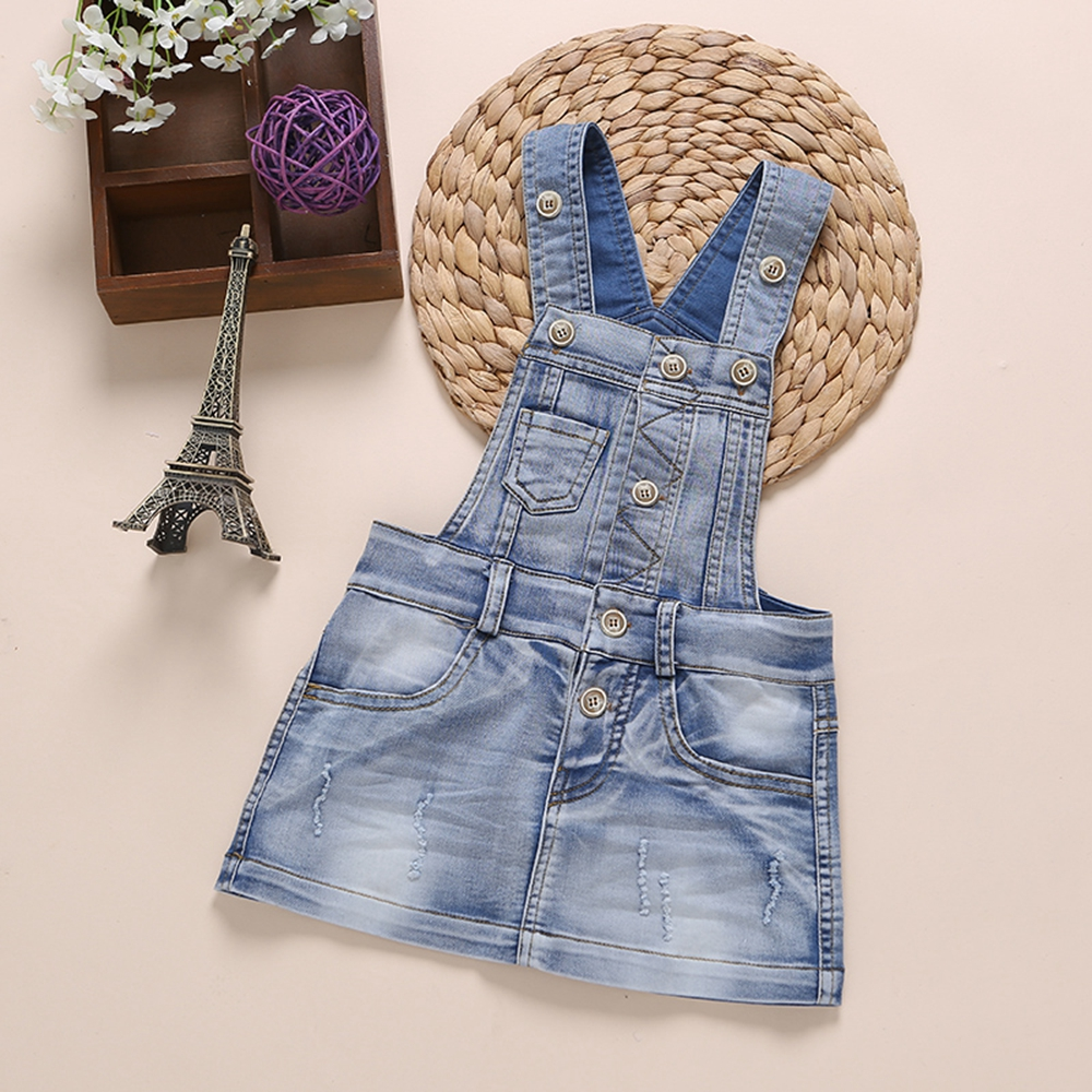 6M-6 Years Baby Sundress Baby Girl Dress Summer Denim Dresses Girls Overalls Kids Jeans Children Clothes Kids Clothing  2345789 2017 new fashion brand summer kids clothes children clothing girls dress baby kids princess dress summer denim holiday sundress
