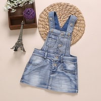 Grade A Summer Autumn Baby Girls Denim Overalls Kids Children Cotton Floral Print Denim Jeans Cute