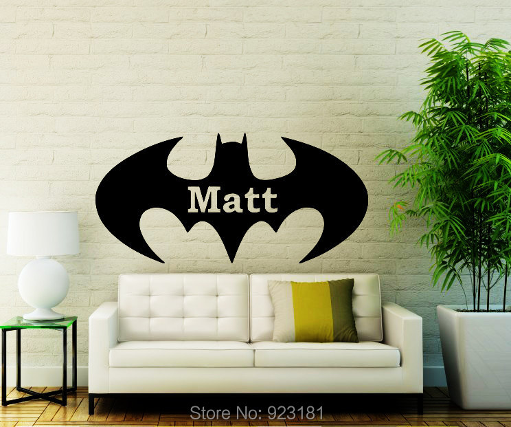 Online buy wholesale batman wall murals from china batman for Batman wall mural