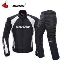DUHAN Motorcycle Jacket Motocross Suits Jacket Pants Moto Jacket Protective Gear Armor Motorcycle Racing Jackets