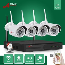 ANRAN CCTV 4CH Wifi NVR 720P Network Plug Play 48 IR Waterproof Outdoor Wireless IP Camera Video Security System With 1TB HDD