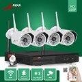Anran cctv 4ch 720 p red nvr wifi plug & play 48 ir impermeable Al Aire Libre Cámara IP Inalámbrica Sistema de Seguridad de Vídeo 1 TB HDD HD