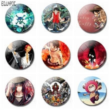 ONE PIECE Cartoon 1pcs 30MM Fridge Magnets Monkey D. Luffy Adventure Navigation Anime Glass Magnetic Stickers for Refrigerator