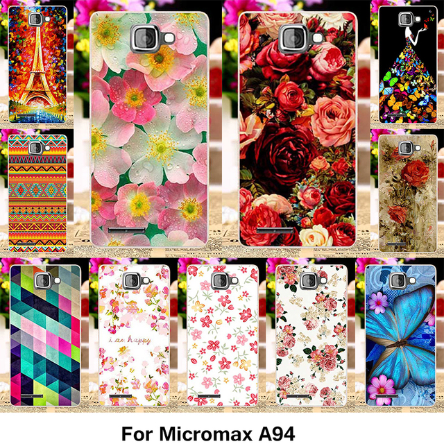 TAOYUNXI Silicone Phone Cover Case for Micromax A94 Canvas MAd A94 4.5 inch Case Flower Rose Soft TPU Cover Housing Skin Shell