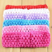 800pcs/lot Wholesale 1.5 Inch Elastic Crochet holes Headband Boutique Hair Accessories DIY Supply 38 Color U Pick D02