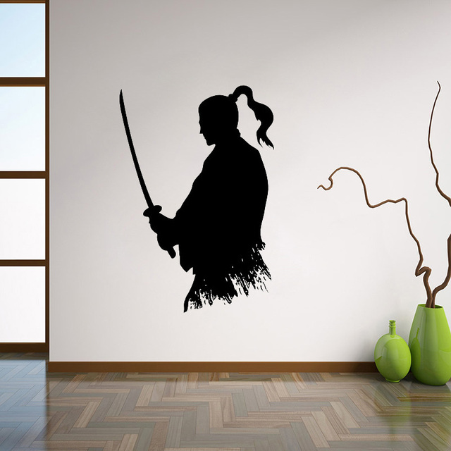 Samurai Katana Wall Decal Ninja Vinyl Sticker Japanese Home Decor ...
