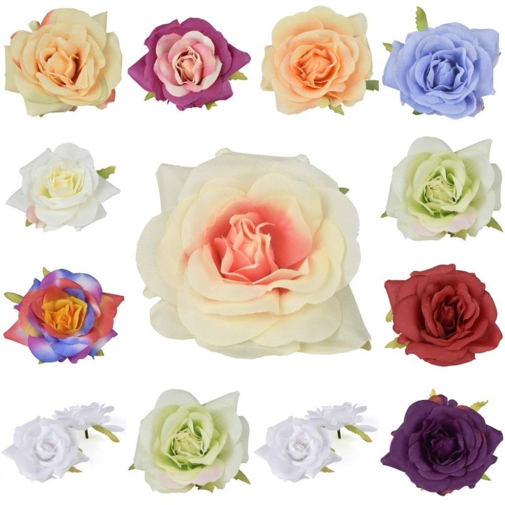 Craft flowers in bulk - 20pc 7cm Artificial Silk Flower Rose Heads Bulk For Kissing Ball Home Wedding Party Craft
