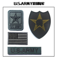 4pcs Embroidery US Army Tactical Patch Cloth America Flag Patches Army Hook And Loops Morale Armband