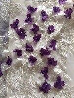 Afrika boncuklu Dantel Kumaş Sıcak Satmak Örgü Yeni Varış beyaz renk mor Afrika kordon Dantel Kumaşlar Yüksek Kalite JRBCD-52012