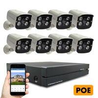 POE Security System 1080P 8PCS IP Camera NVR Set CCTV Surveillance Kit