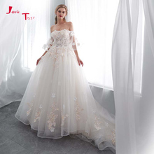 Jark Tozr Plus size A-line Wedding Dress Turkey 3D Flowers