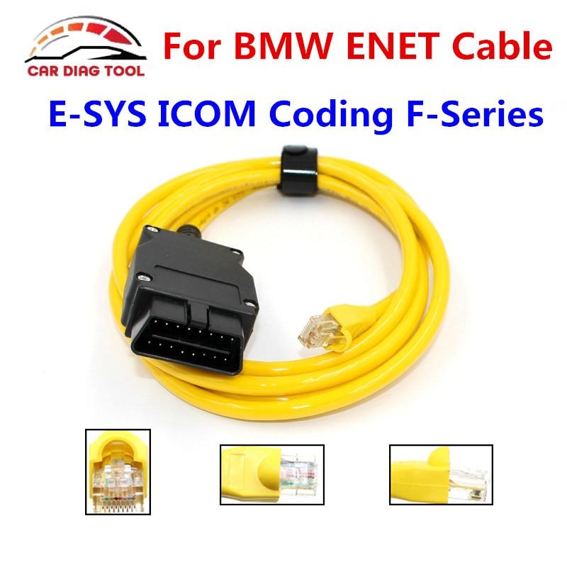 Prix pour Meilleur Prix Pour BMW ENET Ethernet À OBD Interface Câble E-SYS ICOM Codage F-Série ENET Faute OBD2 OBDII Codes Scanner Aucun CD