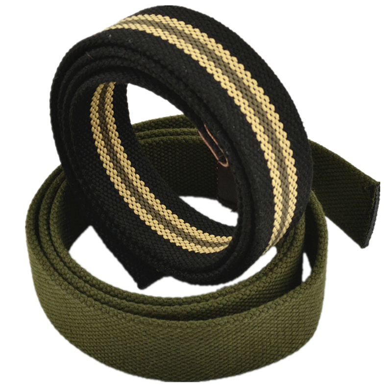 Canvas Material Belt Body Does Not Include Belt Buckle Head Weaving Process Multicolor Young Casual Fashion Style Width 3.8cm