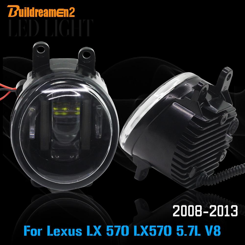 Buildreamen2 2 X De Voiture lumière led Source Fog Light Daytime Running Light DRL Accessoires Pour 2008-2013 Lexus LX 570 LX570 5.7L V8