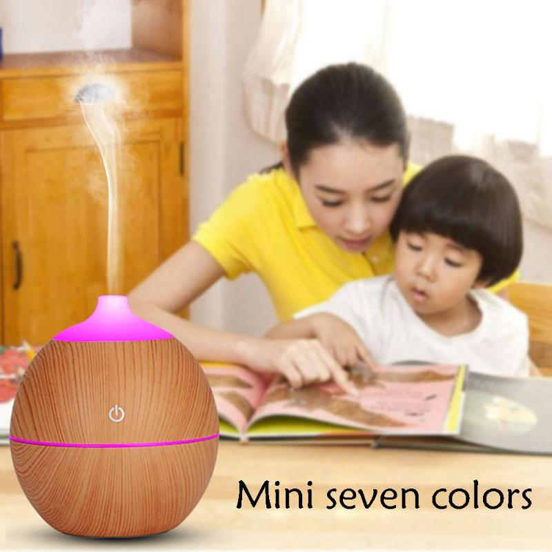 7 Color LED Essential Oil Diffuser Ultrasonic Air Humidifier 30ml/ H Humidifier Air Purifier USB LED Night light for Office Home usb air humidifier little diffuser with home atomization spray office home purifier water sprayer meng pet night light and fan