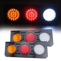 New 2pcs LED Stop Rear Tail Brake Reverse Light Turn Indiactor For ATV Truck Trailer Lamp waterproof 12V Rear Tail Lights