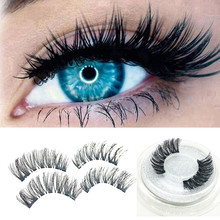 1 Pair 3D Magnetic False Eyelashes With Reusable Magnet