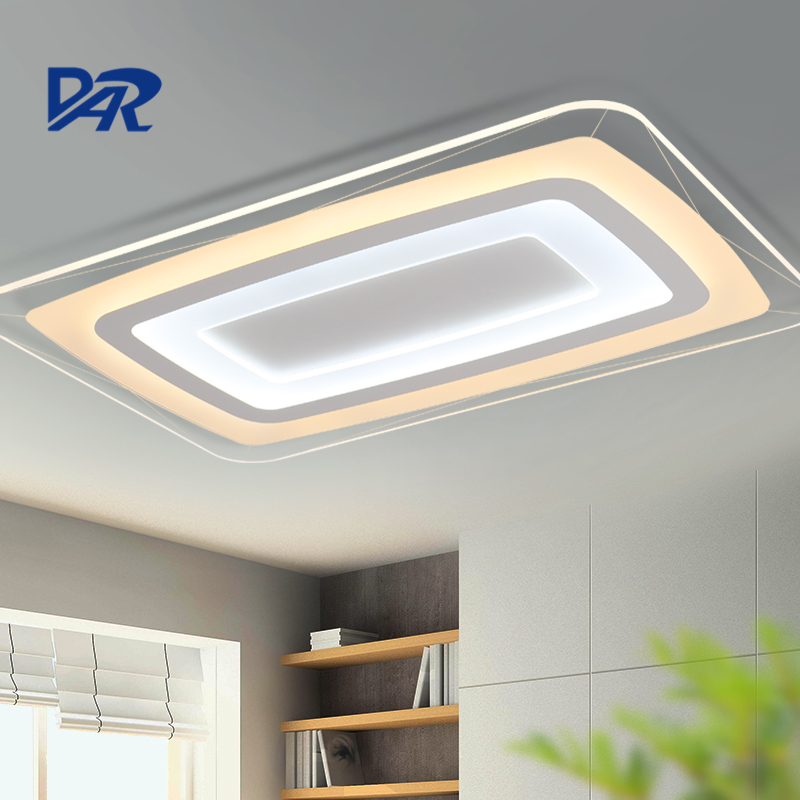 Surface Mounted Rectangle Acrylic Led Ceiling Light With Remote Control lamparas de techo colgante moderna luminaria pendente