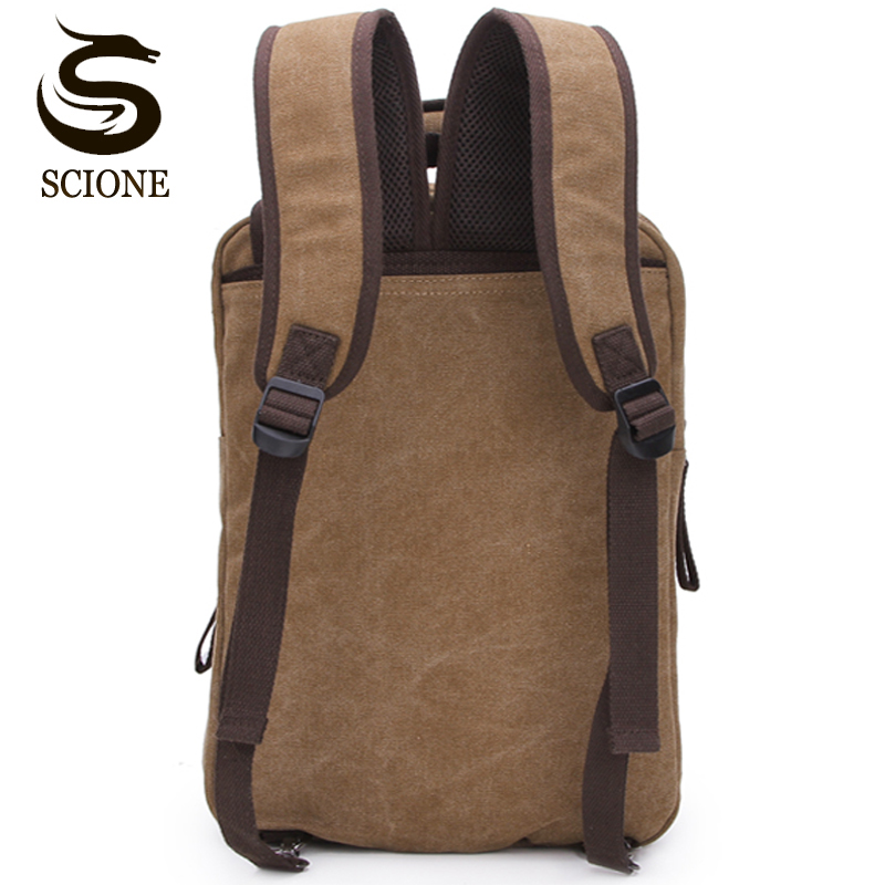 Scione Large Capacity Canvas Backpack Shoulder Bags Female/Male Travel Backpack Bag Mens Backpack Functional Versatile Bags