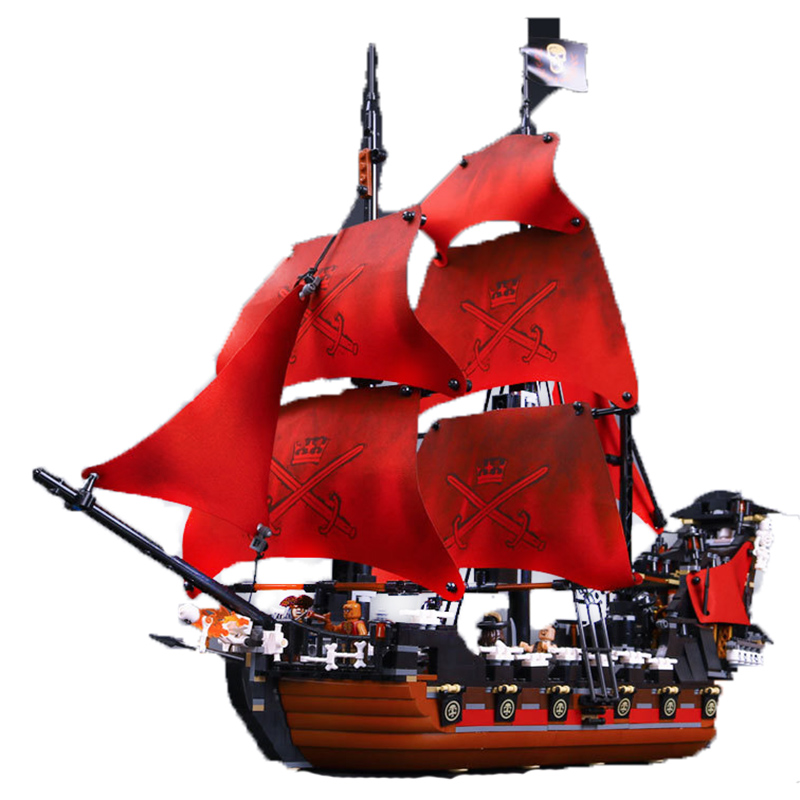 Blocks 1151 Pcs 2017 NEW 16009 Caribbean Pirates Queen Anne'S Revenge Model Building Kit Block Brick Toy Compatible 4195 E35 lepin 16009 the queen anne s revenge pirates of the caribbean building blocks set compatible with legoing 4195 for chidren gift