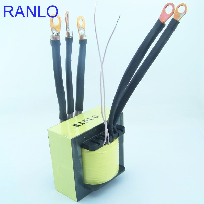EE70 3kw 12V to 220 380V push pull SMPS ferrite core high frequency converter transformer