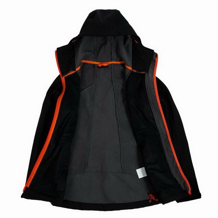 Locmemb velo aquecido softshell impermeável jaqueta de