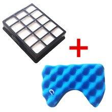 Kit de filtres de remplacement pour aspirateur Samsung SC6520 SC6530 SC6540 SC68, 1 jeu de filtres en mousse bleue et 1 filtre Hepa