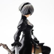 15 cm NieR autómatas YoRHa n° 2, tipo B 2B n° 9 tipo S 9 de dibujos animados NieR: los autómatas con la espada PVC figura de modelo de recogida muñeca de juguete