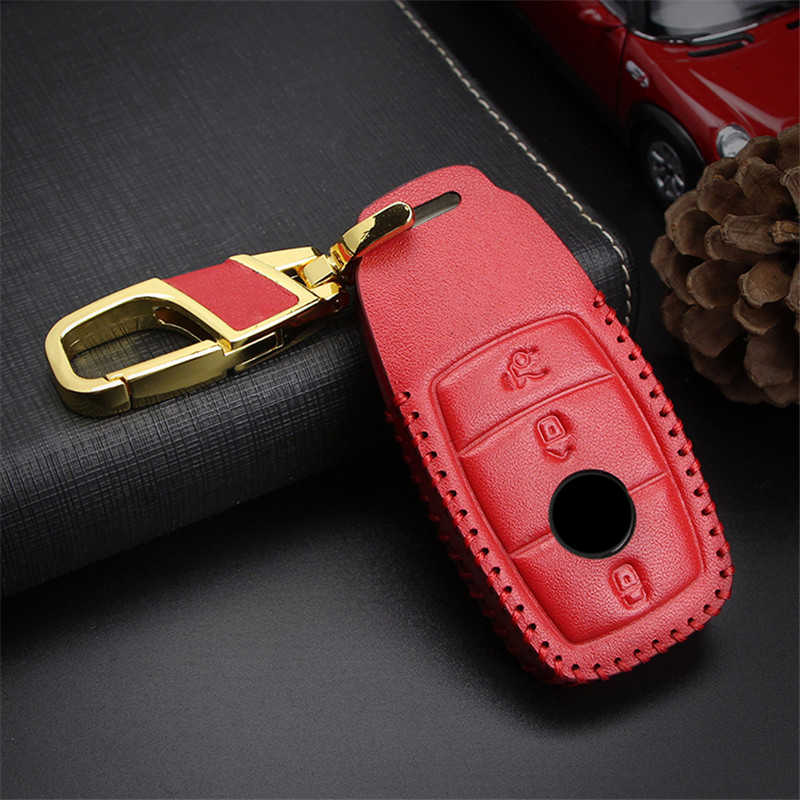 Top Layer Leather Car Key Cover For Mercedes Benz E Class C A W176 W203 W204 W205 W210 W212 CLA AMG GLA CLK Key Case Accessories