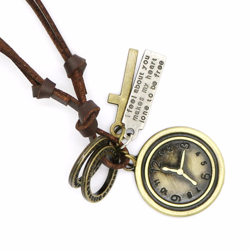 Модные оправы для очков кожаное ожерелье Панк Ретро Регулируемые