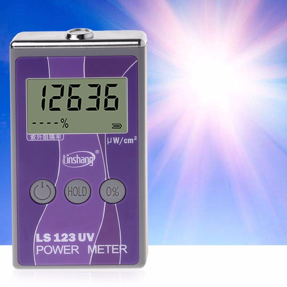 LS123 UV Power Meter Ultraviolet Intensity Transmittance Rejection Rate Tester Tools